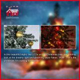 Decoração colorida nevando bonita por atacado dos ornamento da árvore de Natal do PVC