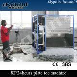 macchina di fabbricazione di ghiaccio del piatto 8t/24h