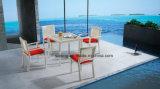 Do Rattan moderno do desenhador da qualidade superior a tabela de jantar ao ar livre da mobília do Rattan do jardim ajustou-se para o restaurante & o hotel (YT537)