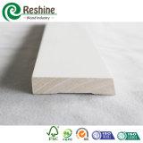 Modanatura di legno impermeabile innescato bianco delle FJ