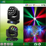 전체적인 새로운 디자인 이동하는 헤드 7 LED 초점 단계 광속 세척 빛
