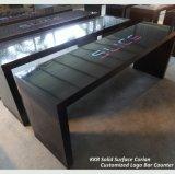 Tableau extérieur solide en pierre artificiel fait sur commande de barre de partie supérieure du comptoir