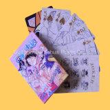 Kundenspezifisches schwarzes Hülsenpapier, das Schürhaken-Spielkarten bekanntmacht