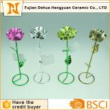 Fleur artificielle personnalisée de fil de fer pour le jour de Vanlentine
