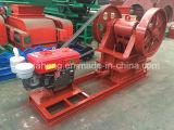 Venta caliente Diesel trituradora de mandíbula, Mina máquina de trituración, la trituradora móvil de piedra con motor diesel