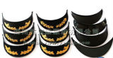 Peaked nero Military Second Lieutenant Cap con Embroidery fatto a mano