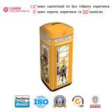 Contenitore di stagno dei soldi di risparmio di figura della cabina di telefono (C001-V3)