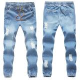 Pantalones elásticos de Jean del basculador de la cintura de los hombres del algodón del OEM