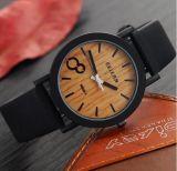 Yxl-856 시뮬레이션 나무로 되는 Relojes 석영 남자 시계 우연한 나무로 되는 색깔 가죽끈 시계 목제 남성 손목 시계 Relogio Masculino