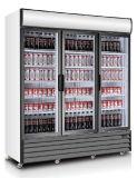 Drei/dreifache Tür-vertikale Getränkekühlvorrichtung mit dynamischem Kühlsystem