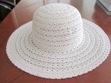Chapeau de paille de papier /Cap de chapeaux de dames de robe de 100% Sun