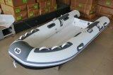 Barco inflável do PVC da casca da fibra de vidro do reforço