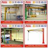 작업장 Floor 또는 Colume Mounted Slewing Jib Crane