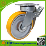 Gesamtbremsen-elastische Polyurethan-Rad-Fußrolle