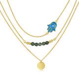 Halsband van de Parel van de Prijs van de Juwelen van het Bergkristal van de Douane van de manier de Goedkope (n-0294)