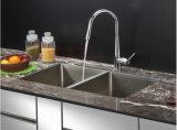Bassin de cuisine, bassin d'acier inoxydable, bassin, bassin fabriqué à la main