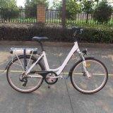 """"""" bici eléctrica de la ciudad del marco abierto 26 con la batería trasera del estante (TDF04Z)"""