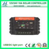 Controlador solar da carga de PWM 12/24V 10A com a C.C. Output (QWP-SC1024U)