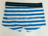 Boxer-Kurzschluss-Unterwäsche der neuen Art-Männer mit Yarn-Dyed Streifen