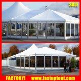 Роскошный алюминиевый шатер высокого пика рамки смешанный с стеклянной стеной