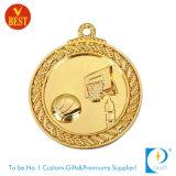 Medalha de ouro feita sob encomenda do basquetebol com mais doente impresso