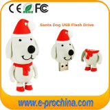 Movimentação 2016 do flash do USB do cão da movimentação da pena do USB do presente do Natal