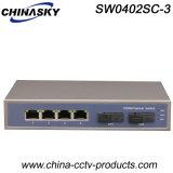 Interruttore completo ottico Port di Ethernet di gigabit 4 RJ45 con 2 Sc (SW0402SC-3)