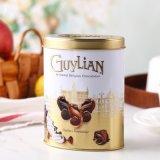 Ovalgeschnittener Schokoladen-Metallblechdose-Tee-Zinn-Kasten