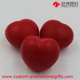 Mini sfera molle rossa di sforzo della gomma piuma di poliuretano del cuore