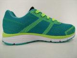 Ботинки самого последнего спорта зеленого цвета конструкции Jogging