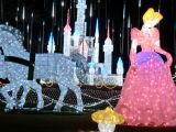 公園の休日項目LED城ライトクリスマスの屋外の装飾
