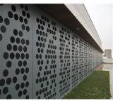 Strato di alluminio perforato del rivestimento della parete per la decorazione della facciata