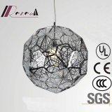 Lampe pendante ronde européenne d'acier inoxydable de polygone pour la décoration
