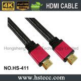 15m Aluminium M/M die Vlakke Kabel HDMI met Nylon Netto insluiten