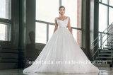 O tampão Sleeves os vestidos de esfera nupciais que perlam o vestido de casamento G17285 de Tulle do espartilho do cetim