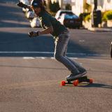 Potente 4 ruedas eléctrica kick scooter monopatín