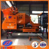Maquinaria de construção móvel do caminhão da bomba do misturador concreto motor diesel/elétrico