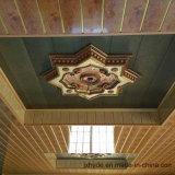 Plafond en bois de PVC de panneau de mur de panneau de PVC d'impression de couleur de vente chaude (RN-129)