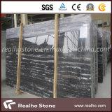 Black chinês Marble Slabs com Stripe Veins para a bancada/Vanitytop