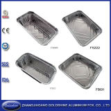 Convinent Compartment Aluminum Lunch Foil Container avec la zone de Two