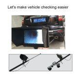 Caméra vidéo télescopique tenue dans la main sous le système d'inspection de véhicule
