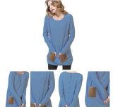 Runde Stutzen-Kaschmir-Strickjacke für Frauen