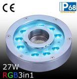 RGB LED 수중 샘 반지 빛 (JP94194)