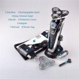 La venta caliente 3 de Kemei 8873 en 1 condensador de ajuste eléctrico de la máquina de afeitar de la recarga y del pelo de nariz para los hombres vende al por mayor la maquinilla de afeitar del cuidado de la cara de los hombres lavables