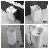 Тазик мытья санитарной ванной комнаты камня смолаы изделий Freestanding