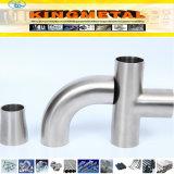 Garnitures de pipe sanitaire de la norme ANSI B16.9 304/304L/316/316L/321