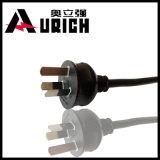 Câble coté de cordon d'alimentation AC d'UL de Pin de 3 fourches pour le cordon de câble d'alimentation de moniteur d'imprimante d'ordinateur de bureau de PC