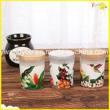 休日のガラスのロマンチックな香料入りの大豆のギフトの蝋燭