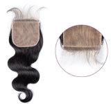 자연적인 색깔 똑바른 자유로운 부속 레이스 마감 Hairpieces