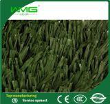 Hierba artificial fibrilada patio de la falsificación del césped